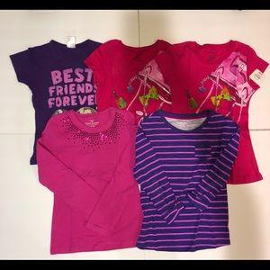 Assorted Brands Girls Tops Bundle Lot 5
